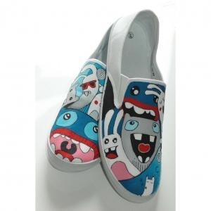 Printing kain sebagai bahan baku kain membuat sepatu custom