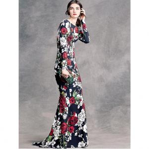 Printing kain sebagai bahan baku kain membuat long dress custom